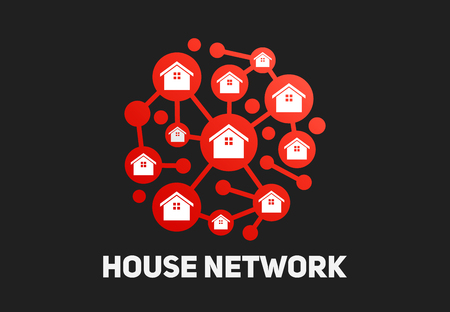House group network technology connection vector