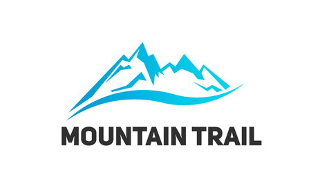 Mountain tourism landscape vector logo