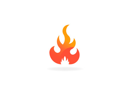 Fire flame with negative space. Vector Logo Symbol 写真素材 - 107712615