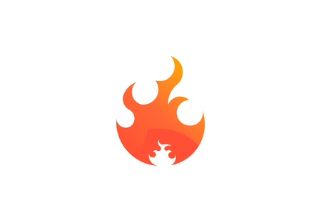 Fire flame with negative space. Vector Logo Symbol Illustration