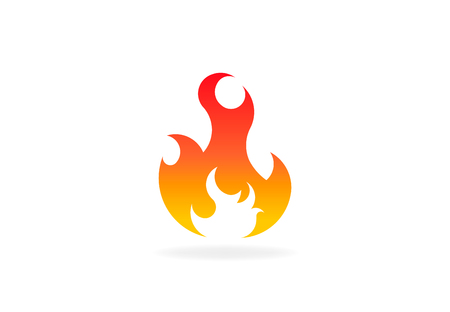 Fire flame with negative space. Vector Logo Symbol 写真素材 - 107768763