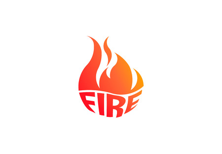 Fire flame with negative space. Vector Logo Symbol 写真素材 - 108202420