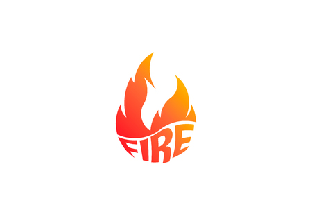 Fire flame with negative space. Vector Logo Symbol 写真素材 - 108202421