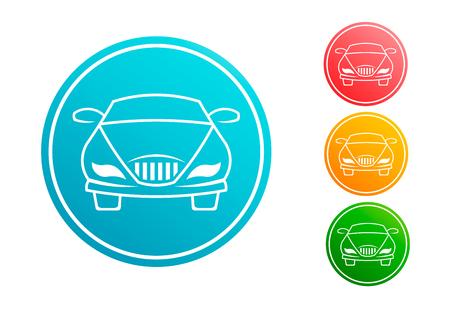 Car automobile circle vector set