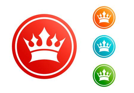 King crown vector set Illustration