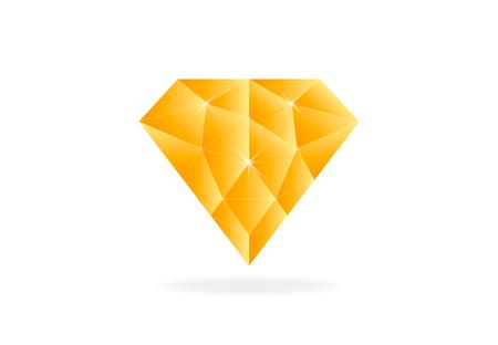 Gold diamond jewelry vector symbol design illustration