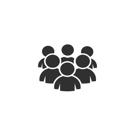 Group of people, icon vector