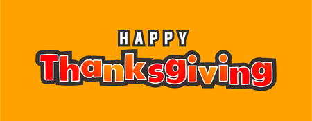Thanksgiving holiday text background vector