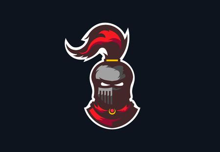 Knight, medieval warrior, vector logo