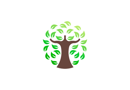 Green tree environmental, vector logo. Life growth design illustration 写真素材 - 108688695