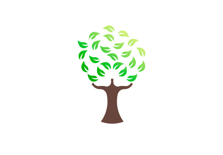Green tree environmental, vector logo. Life growth design illustration 写真素材 - 108688696