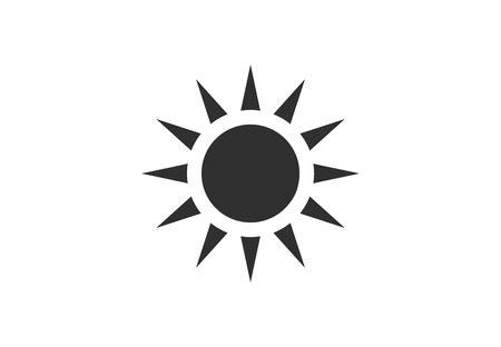 Abstract sun vector icon 写真素材 - 108837715