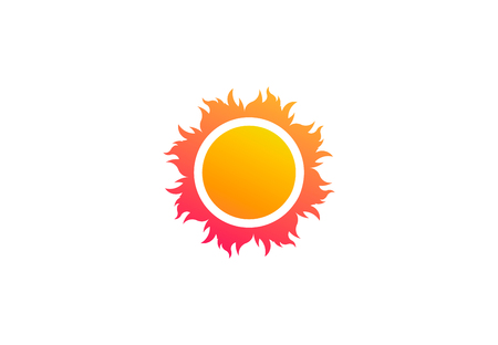 Abstract sun, beach vector logo symbol 写真素材 - 108837720