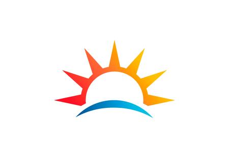 Abstract sun, beach vector logo symbol 写真素材 - 108837721