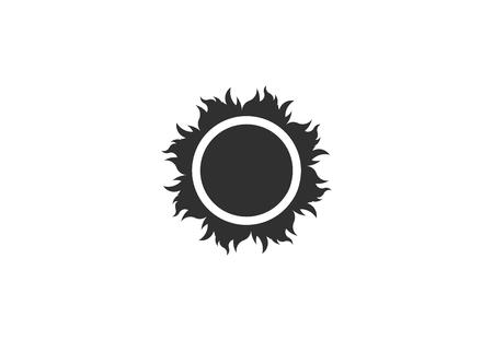Abstract sun vector icon 写真素材 - 108837723