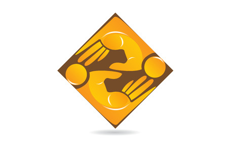 People business hand teamwork, icon vector logo  イラスト・ベクター素材