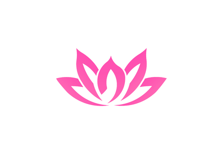 Pink lotus flower, business vector logo Stock Photo