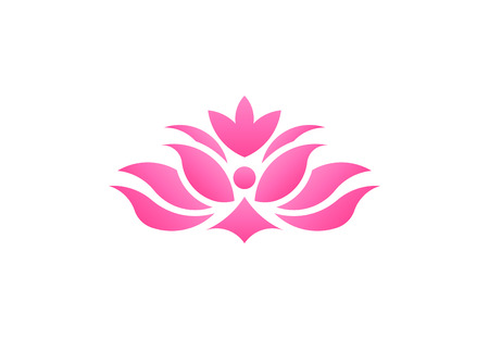 Pink lotus flower, business vector logo Stockfoto
