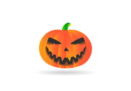 Halloween Pumpkin Autumn, vector logo