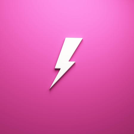 3D Lightning bolt render 写真素材 - 111633931