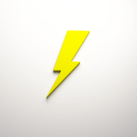 3D Lightning bolt render Фото со стока