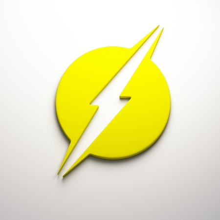 3D Lightning bolt render Stockfoto