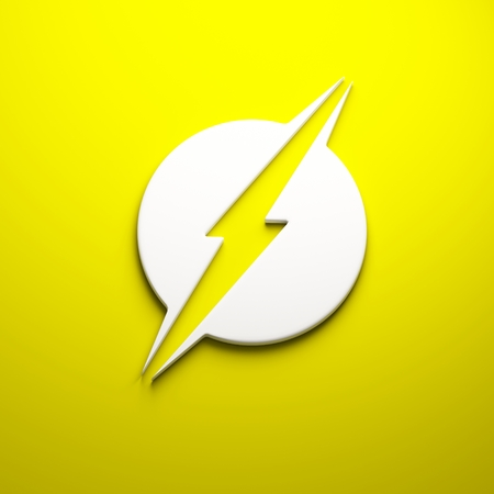 3D Lightning bolt render Stock Photo