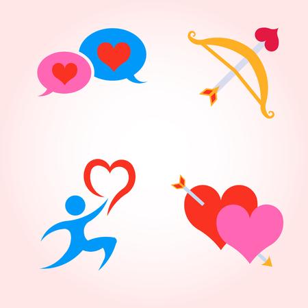 Valentine Day Icons. Vector Set Design Illustration Illustration