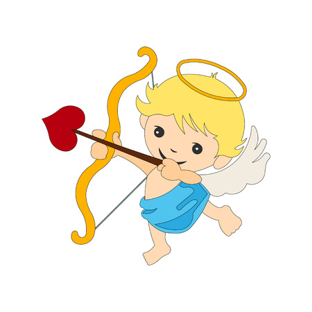 Cupid valentine angel vector illustration deisgn Illustration