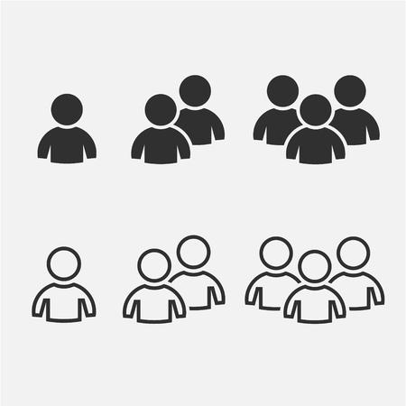 Team people icon. Vector Set Design Illustration Illustration