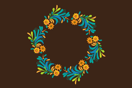 Floral wreath vector design