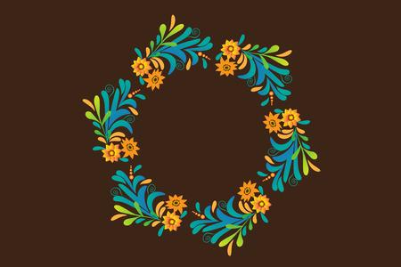 Floral wreath vector design