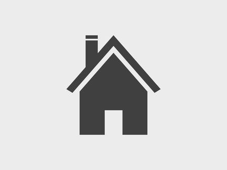 House building, home icon vector