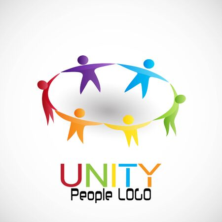 People unity teamwork, vector Иллюстрация