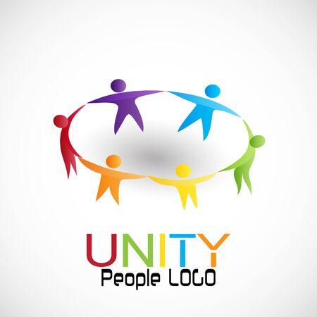 People unity teamwork, vector Illustration