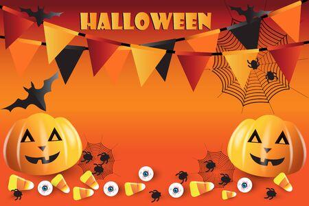 Halloween pumpkin season banner