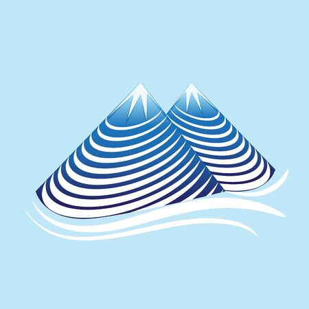Mountain nature swirly vector Иллюстрация