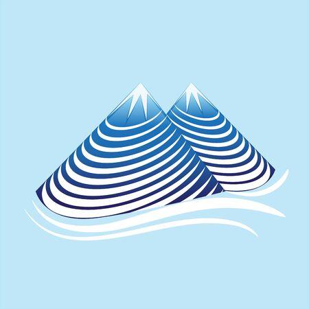 Mountain nature swirly vector Illustration