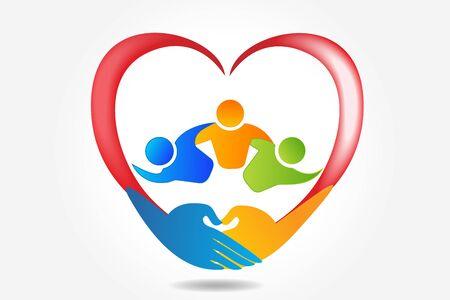 Teamwork unity community, vector design