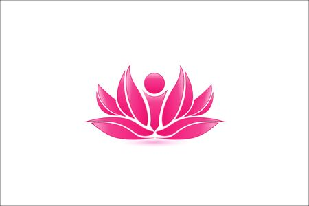 Pink Lotus Flower, abstract vector Иллюстрация