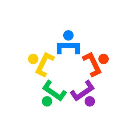 Teamwork people together, vector