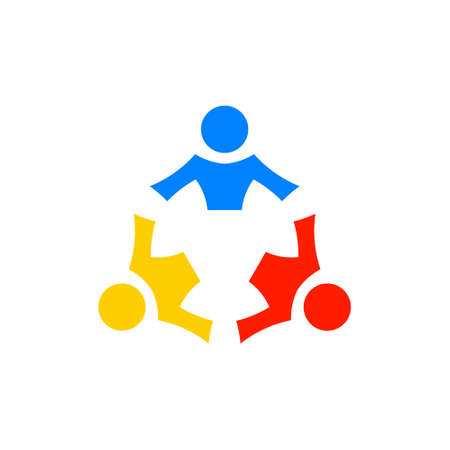 Teamwork people community, vector graphic