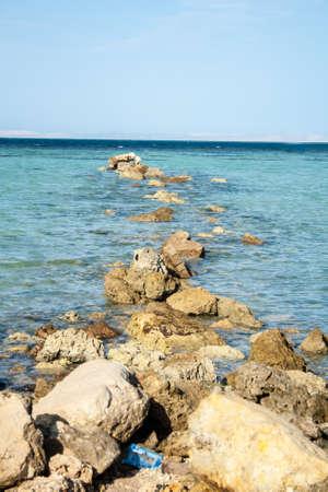Big Stones in Egypt Sea  Stock Photo