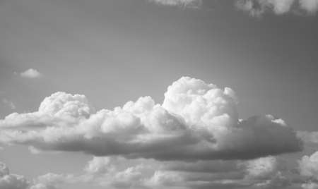 Black white Sky with Clouds