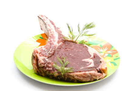 Fresh Raw Uncooked Steak from Beef