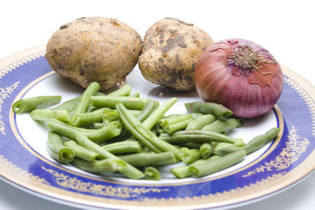 String beans with Potatos and Onion