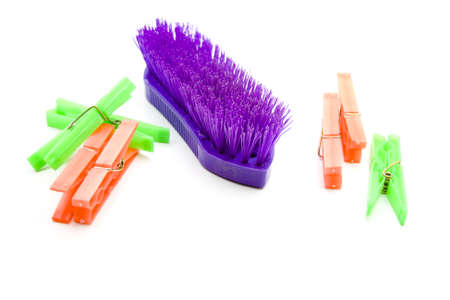 clothespins: Handbrush with Clothespins