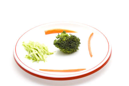 Fresh Broccoli with Carrots Stock Photo
