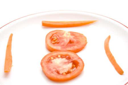 tomatos: Fresh Red Tomatos with Carrots