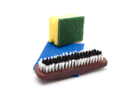 Sponge with Brush and Sponge Cloth